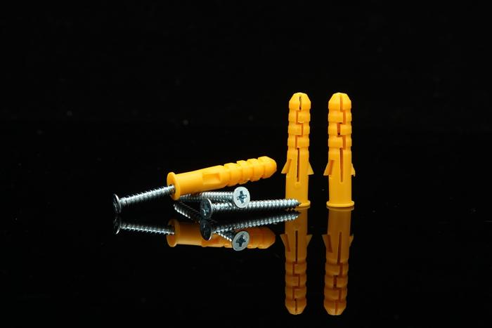 塑料膨胀螺栓-黄色