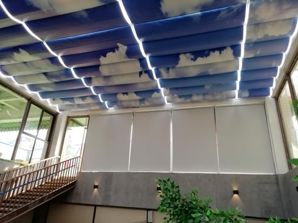武汉市江岸区明美幼儿园遮阳采光顶工程