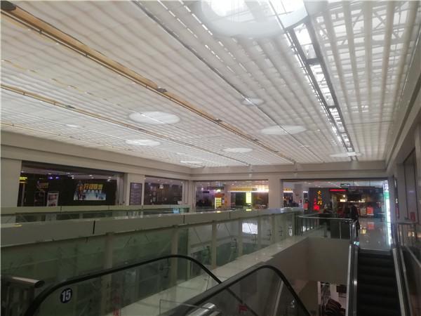 黄石市中商广场电动天棚遮阳帘