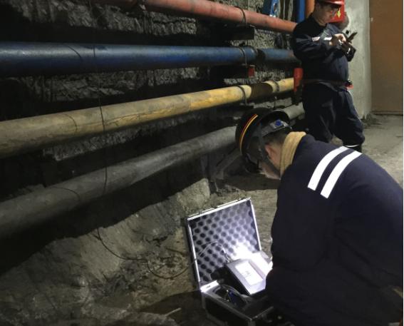 CMSW6(A)矿用本安型锚杆锚索无损检测仪应用于皖北煤电集团