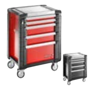 JET+系列5抽屉工具车 - 每个抽屉3个模块